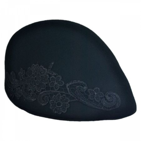 Callanan Hats Lace Applique Ascot Cap
