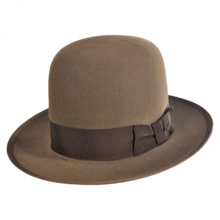 Stetson Stetsonian Fur Felt Shapeable Open Crown Fedora Hat