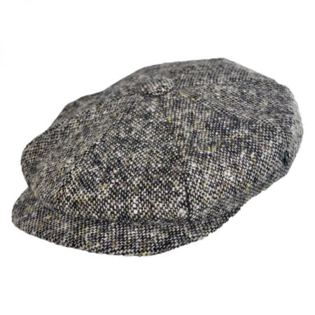 City Sport Caps Tic Weave Donegal Tweed Wool Newsboy Cap