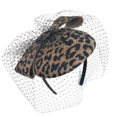 Scala Leopard Fascinator Headband
