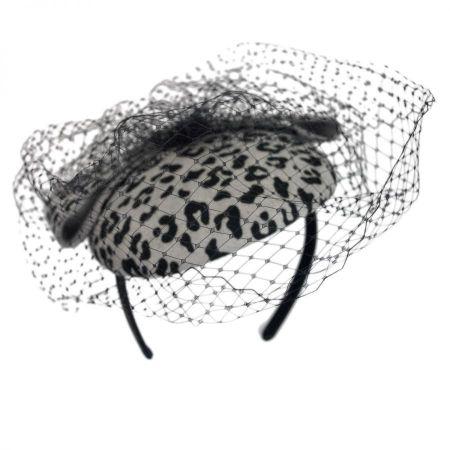 Scala Leopard Fascinator Headband