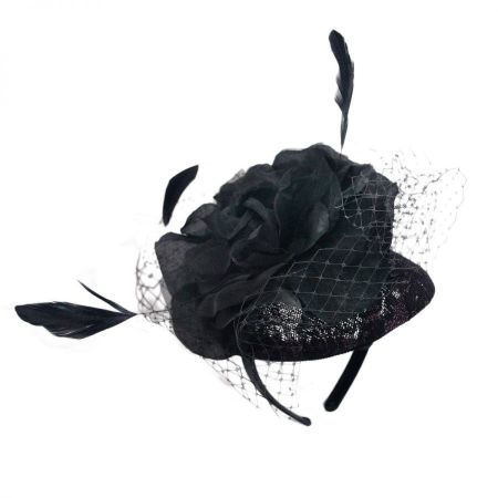 Scala Lace & Flower Fascinator Headband