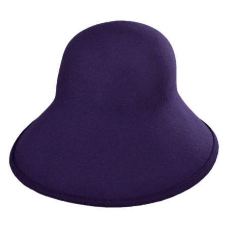 Scala Six-Way Big Brim Wool Felt Cloche Hat