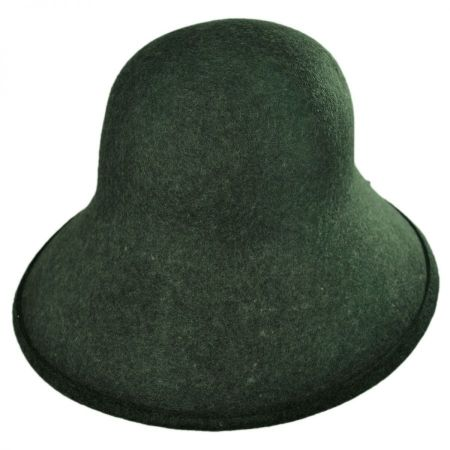 Six-Way Big Brim Wool Felt Cloche Hat alternate view 7