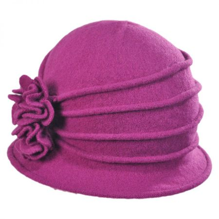 Boiled Wool Cloche Hat