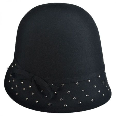 Scala Studs Cloche Hat
