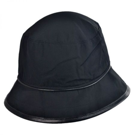 Scala Faux Leather Rain Hat