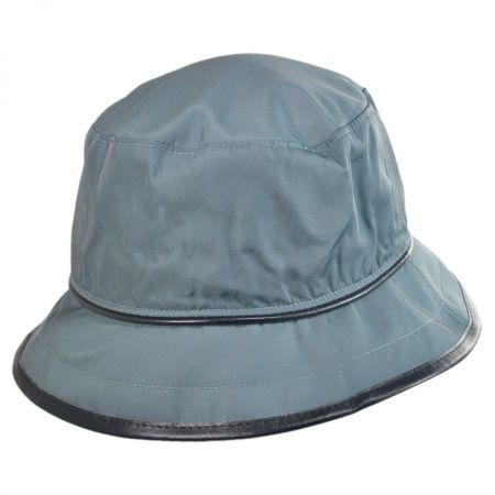 Scala Faux Leather Rain Hat