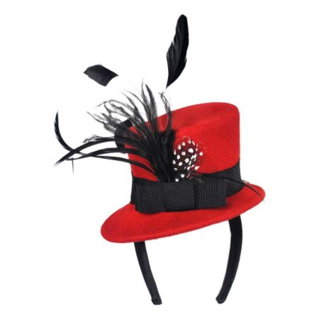 Jeanne Simmons Wool Felt Mini Top Hat Fascinator Headband