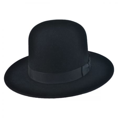 Amish Buffalo Fur Felt Open Crown Fedora Hat alternate view 2