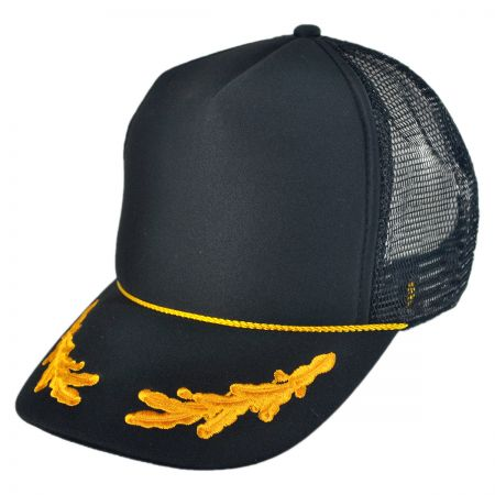 Otto Gold Leaves Mesh Trucker Baseball Cap