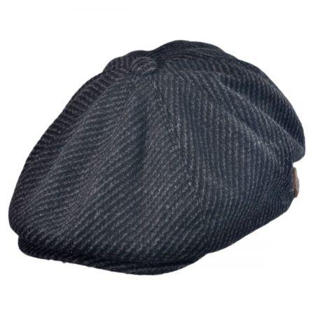 Kangol Ripley Black Twill newsboy cap