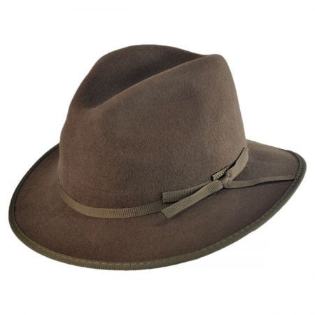 Woolrich Ribbon Wool Felt Safari Fedora Hat