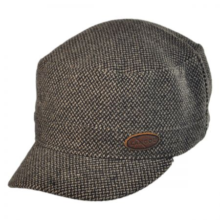 Kangol Army Check Wool Blend Cadet Cap