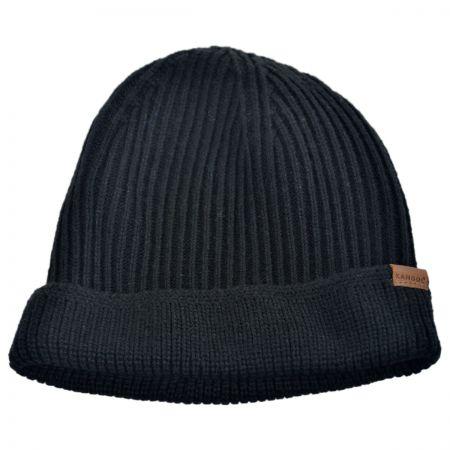 Kangol Squad Cuff Pull On Knit Beanie Hat