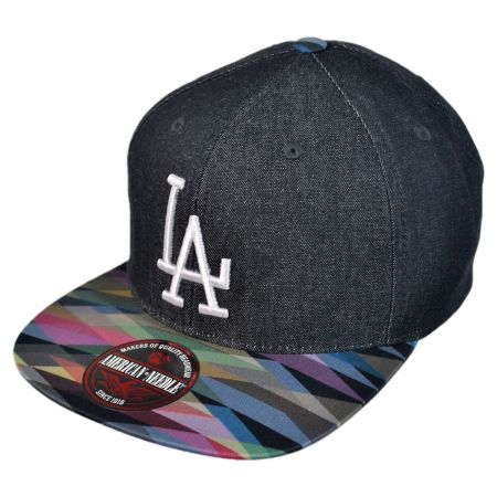 American Needle Los Angeles Dodgers MLB Geo Tag Strapback Baseball Cap