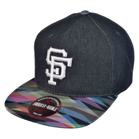 American Needle San Francisco Giants MLB Geo Tag Strapback Baseball Cap