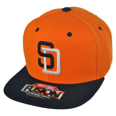 American Needle San Diego Padres MLB Back 2 Front Snapback Baseball Cap