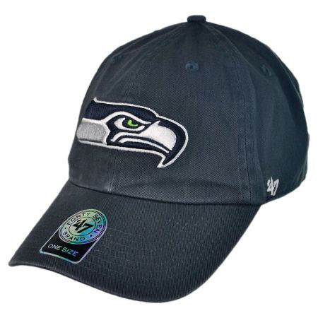 47 Brand Seattle Seahawks NFL Clean Up Strapback Baseball Cap Dad Hat