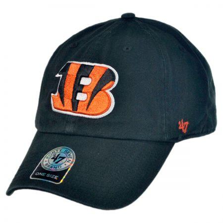 47 Brand Cincinnati Bengals NFL Clean Up Strapback Baseball Cap Dad Hat