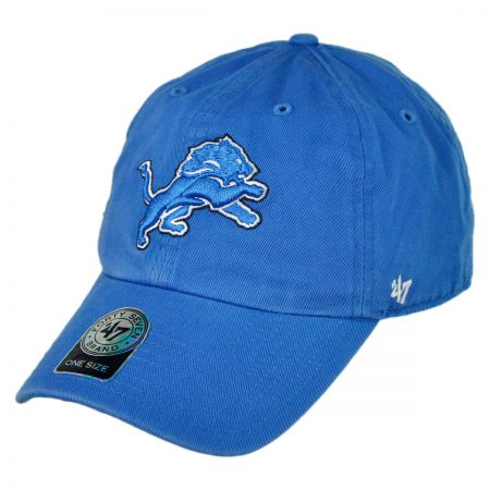 47 Brand Detroit Lions NFL Clean Up Strapback Baseball Cap
