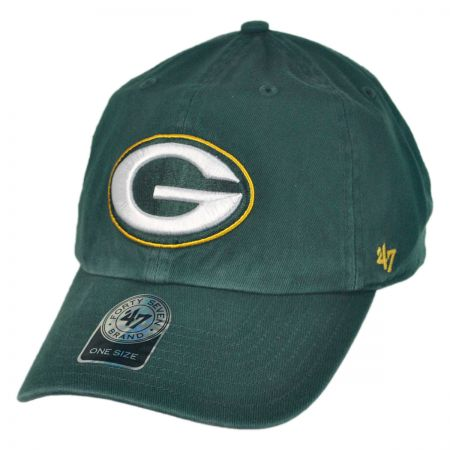 47 Brand Green Bay Packers NFL Clean Up Strapback Baseball Cap