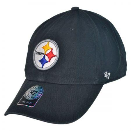 47 Brand Pittsburgh Steelers NFL Clean Up Strapback Baseball Cap