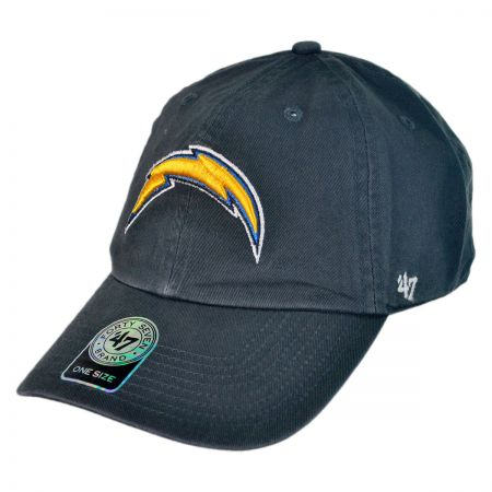 47 Brand San Diego Chargers NFL Clean Up Strapback Baseball Cap