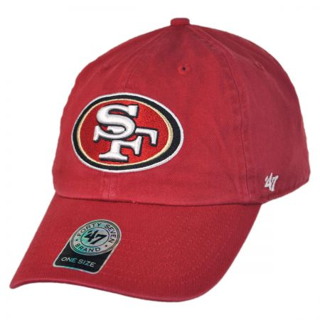 47 Brand San Francisco 49ers NFL Clean Up Strapback Baseball Cap