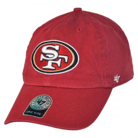 47 Brand San Francisco 49ers NFL Clean Up Strapback Baseball Cap