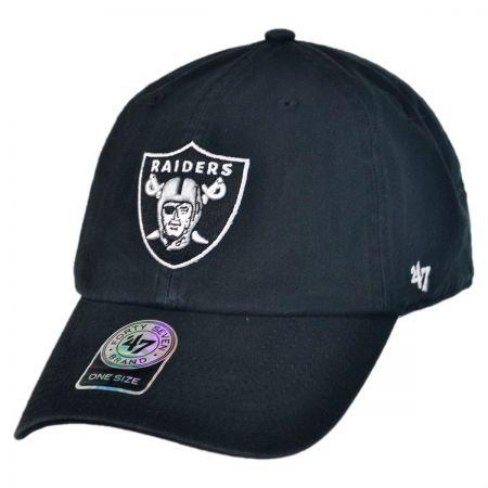 Oakland Raiders NFL Clean Up Strapback Baseball Cap Dad Hat