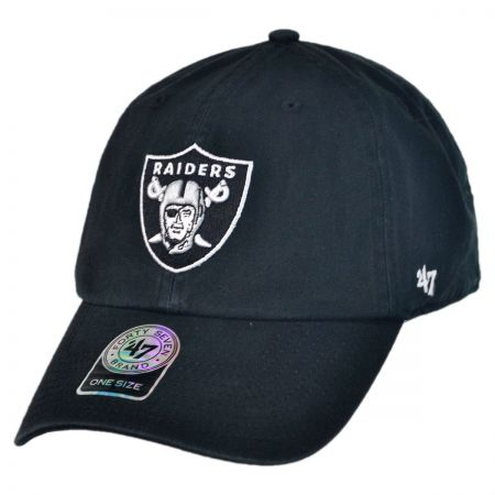 47 Brand Oakland Raiders NFL Clean Up Strapback Baseball Cap