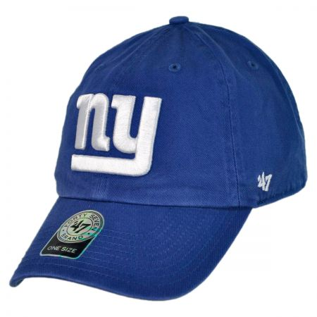 New York Giants NFL Clean Up Strapback Baseball Cap Dad Hat