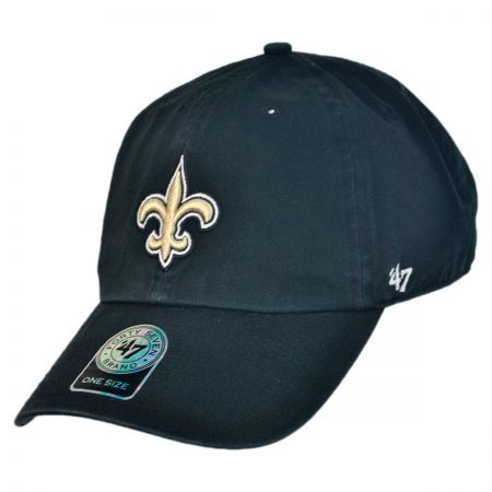 47 Brand New Orleans Saints NFL Clean Up Strapback Baseball Cap Dad Hat
