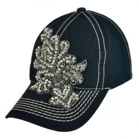 Something Special Fashion Rhinestone Adjustable Baseball Cap