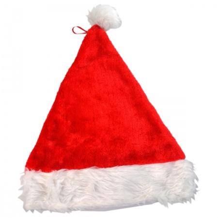 B2B Deluxe Plush Santa Hat