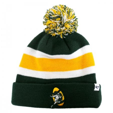 47 Brand Green Bay Packers NFL Breakaway Knit Beanie Cap