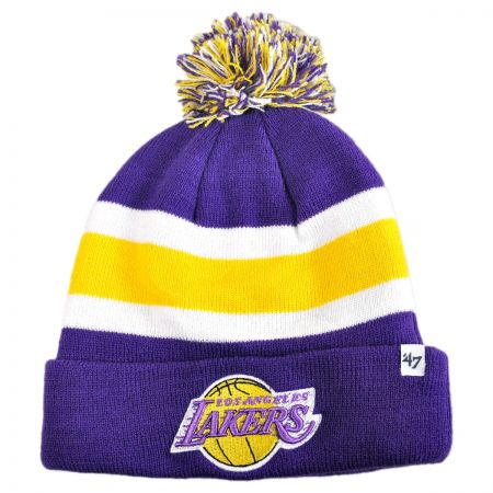 47 Brand - Los Angeles Lakers NBA Breakaway Knit Beanie Cap