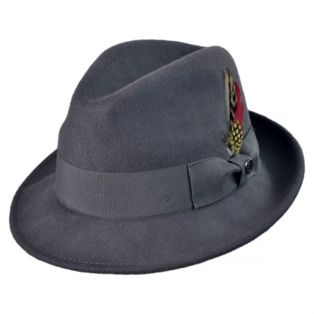 Jaxon Hats Sterling Crushable Wool Felt Trilby Fedora Hat