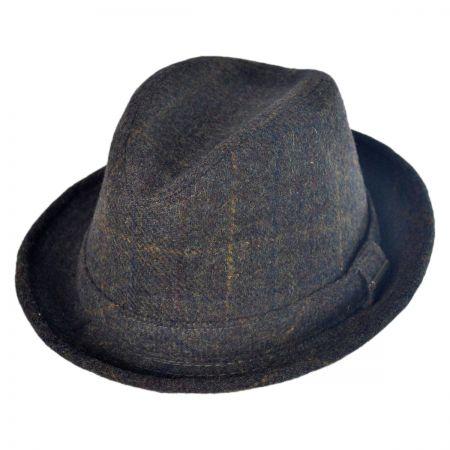Stetson Shadow Plaid Walker Fedora Hat