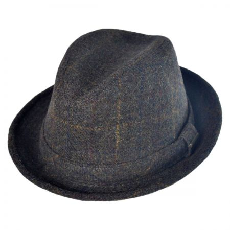 Stetson Shadow Plaid Walker Fedora Hat