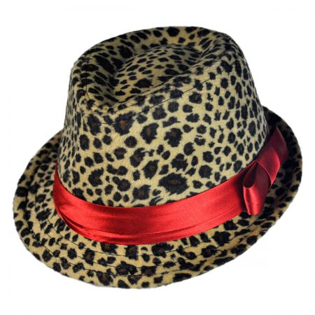 Jeanne Simmons Kid's Cheetah Print Fedora Hat