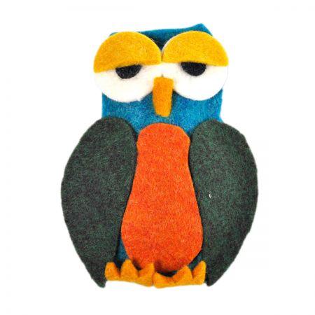 Jeanne Simmons Felt Owl Clip Pin Accessory