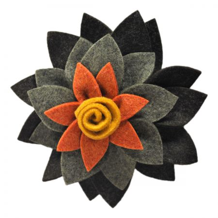 Jeanne Simmons Flower Felt Accessory Clip/Pin