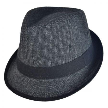 Jeanne Simmons Kid's Tweed Fabric Fedora Hat