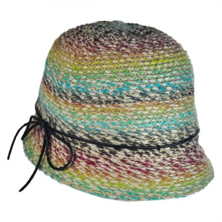 Jeanne Simmons Rainbow Yarn Cloche Hat