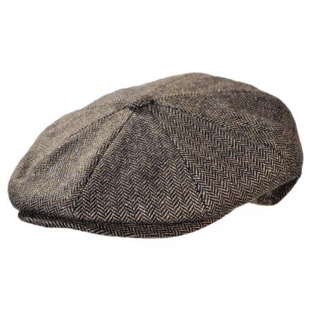 Jaxon Hats - Made in Italy Paolo Herringbone Newsboy Cap