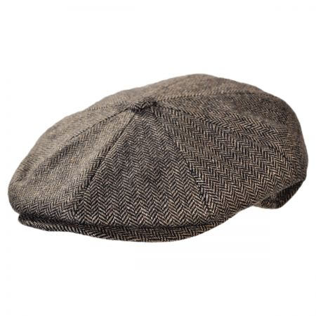 Jaxon Hats - Made in Italy Paolo Herringbone Wool Blend Newsboy Cap