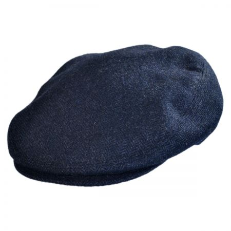 Jaxon Hats - Made in Italy Salvatore Herringbone Flat Cap