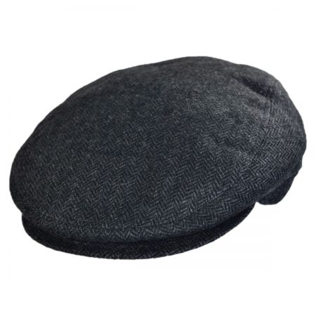 Jaxon Hats - Made in Italy Giuseppe Herringbone Flat Cap